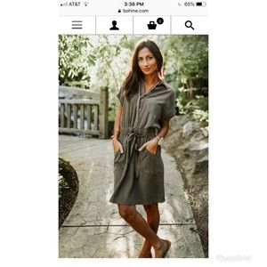Bohme Going Abroad Cargo Utility Dress in Olive
